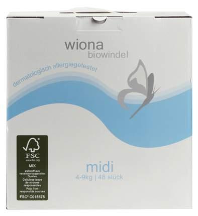 Подгузники Wiona Midi (4-9 кг), 48 шт.