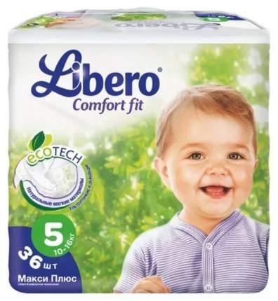 Подгузники Libero Comfort Fit Eco Tech Maxi plus 5 (10-16 кг), 36 шт.