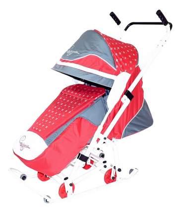 Санки-коляска R-Toys Скользяшки Мозаика красный/серый/белый