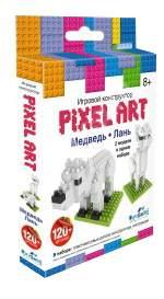 Конструктор пластиковый Origami Pixel Art Медведь и лань