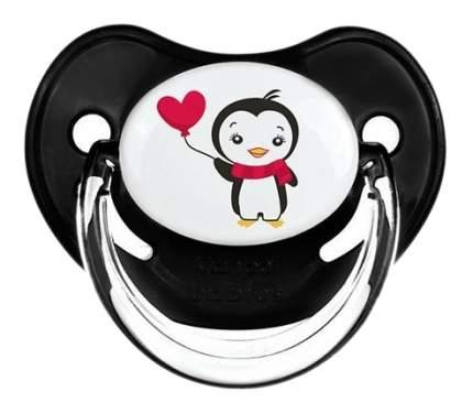 Силиконовая пустышка анатомическая Canpol Penguins 6-18 Мес Цвет Чёрный