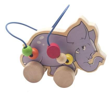 """Каталка детская Игрушки из дерева """"Слон"""""""