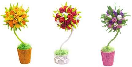 Набор для творчества Волшебная Мастерская топиарий малый Тюльпаны цвета в ассортименте