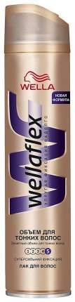 Лак для волос Wella Wellaflex Для тонких волос супер-сильная фиксация 250 мл