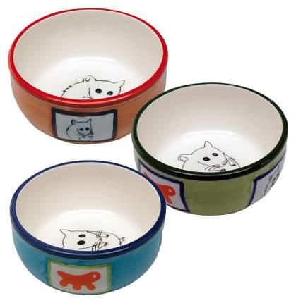 Одинарная миска для грызунов Ferplast, керамика, разноцветный, 0.18 л
