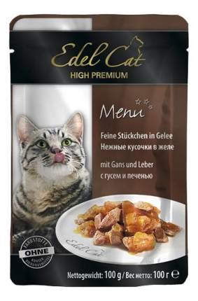 Влажный корм для кошек Edel Cat, домашняя птица, печень, 100г