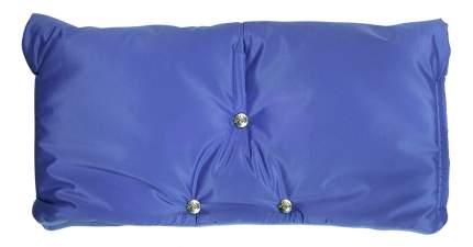 Муфта для рук мамы на детскую коляску Чудо-Чадо Флисовая (на липучке) голубой