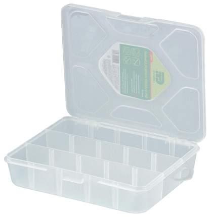 Рыболовная коробка Сибртех Малая прозрачная матовая 90726, 3 отделения