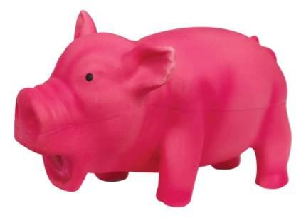 Жевательная игрушка для собак Triol Поросенок хрюкающий из латекса, розовый, 16 см