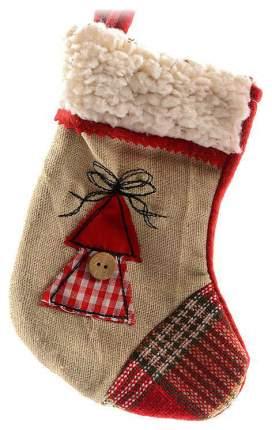 Чулок для подарков Kaemingk 611657 Красный, бежевый