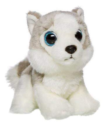 Мягкая игрушка Maxitoys собака Maxitoys Хаски 18 см белый серый