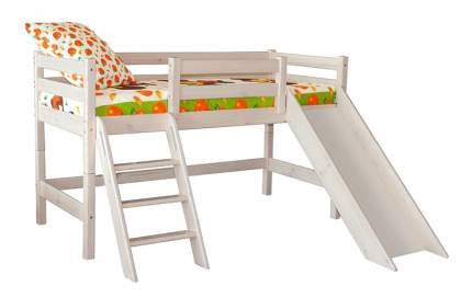 Кровать МебельГрад Низкая Соня с наклонной лестницей и горкой (вариант 14)