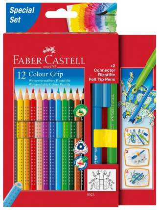 Цветные карандаши Faber-Castell GRIP 2001, 12 шт