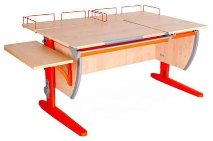 Парта Дэми СУТ 17-02 с двумя задними и боковой приставками Клен Оранжевый 120 см