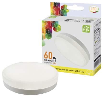Эл,лампа ASD LED-GX53-6W 3000 480Лм