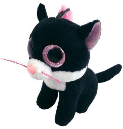 Мягкая игрушка ABtoys Котенок черный, на брелке 8 см