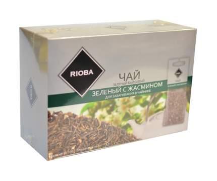 Чай зеленый Rioba с жасмином байховый крупнолистовой 20 пакетиков
