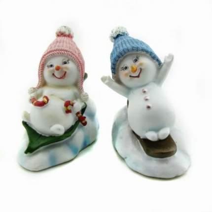 Снеговик, 2 вида 4шт 5*8*7см
