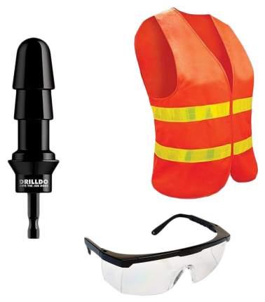 Комплект Drilldo для секс-дрели drilldo бит, очки, жилет
