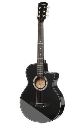 Гитара акустическая  Cowboy 38c Bk  Гитара акустическая