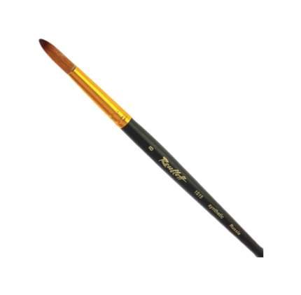Кисть художественная ROUBLOFF синтетика под колонок плоская №8 короткая ручка ЖS2-0805Ж