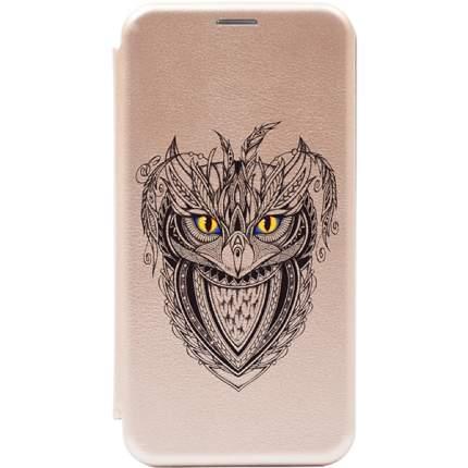 Чехол Gosso Cases для Huawei P30 Lite Gold «Grand Owl»