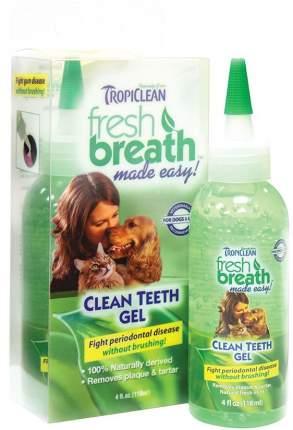 Зубной гель для кошек и собак TropiClean Свежее дыхание, мята, 118 мл