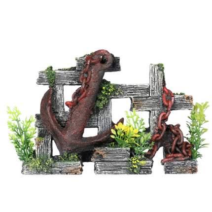 Декорация для аквариума AQUA DELLA Якорь, полиэфирная смола, 18х5,5х12,5 см