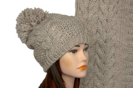Комплект (шапка,шарф) Tranini 5027 ART-1501B-1578 COL-0020 бежевый