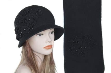 Комплект (шляпа,шарф) Tranini 0162 ART-YM1208K COL-06 черный