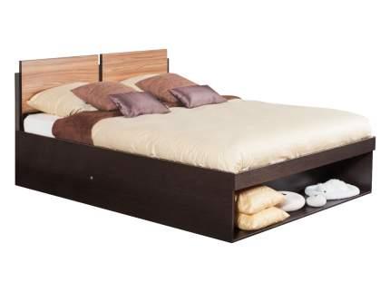 Двуспальная кровать Глазов HYPER (спальня) Кровать 1600 Х 2000 мм, Венге / Палисандр