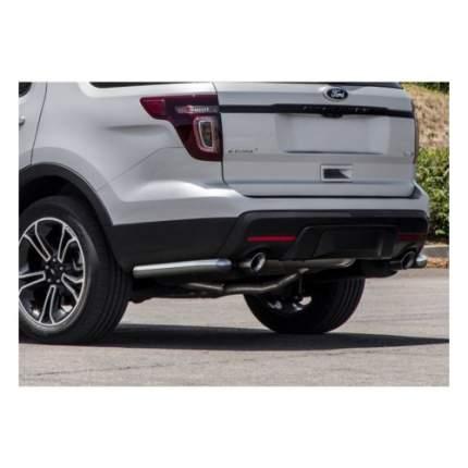 Защита заднего бампера d57 Arbori черн. для Ford Explorer 2018-нв