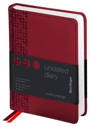 Ежедневник недатированный Berlingo «Vivella Prestige», А6, 160 листов, бордовый
