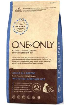 Сухой корм для собак ONE&ONLY Adult All Breeds Fish&Rice, все породы, белая рыба, рис, 1кг