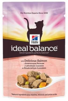 Влажный корм для кошек Hill's Ideal Balance, лосось, 12шт по 85г