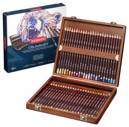 Карандаши цветные Derwent Coloursoft 2301660 48 шт
