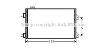 Радиатор кондиционера Ava RTA5347
