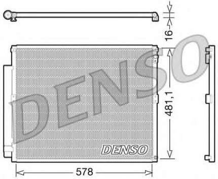 Радиатор кондиционера Denso DCN50017