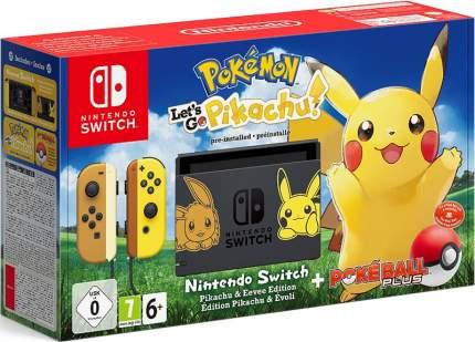 Портативная игровая консоль Nintendo Switch + Pokemon: Let's Go, Pikachu!