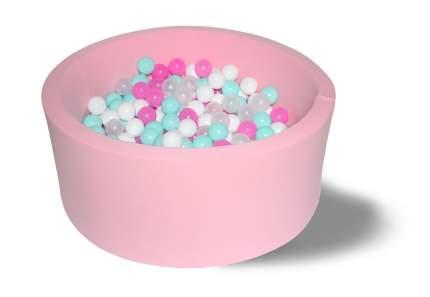 Сухой бассейн Розовая мечта 40см с 200 шариками: розовый, белый, мятный, прозрачный
