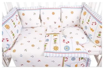 Текстильный бортик для кроватки Сонный Гномик Маяк 133-10