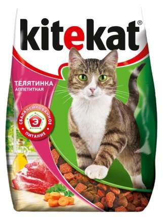 Сухой корм для кошек Kitekat, Телятинка аппетитная, 18шт по 350г