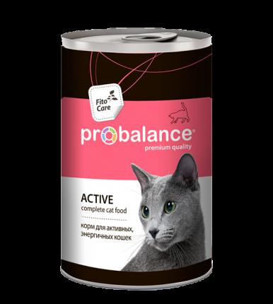 Консервы для кошек ProBalance Active, мясо, 415г
