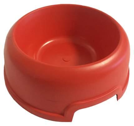 Одинарная миска для кошек и собак Мини класс, пластик, красный, 0.2 л