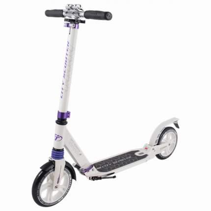 Самокат Tech Team City Scooter бело-фиолетовый