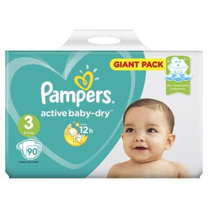 Подгузники Pampers Active Baby-Dry Midi 6-10 кг 90 шт.