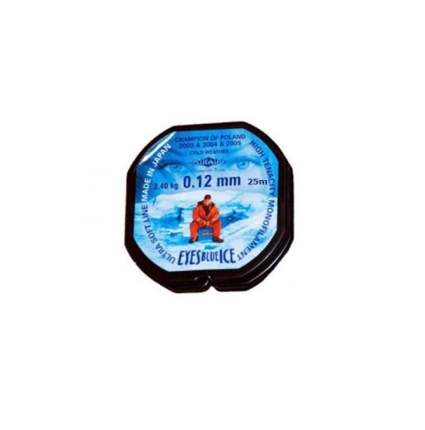 Леска монофильная Mikado Eyes Blue Ice 0,12 мм, 25 м, 2,4 кг