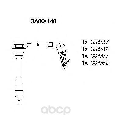 Высоковольтные провода комплект BREMI 3A00/148