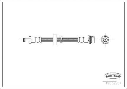 Шланг тормозной CORTECO 19032284