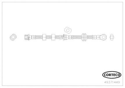 Шланг тормозной CORTECO 49371449
